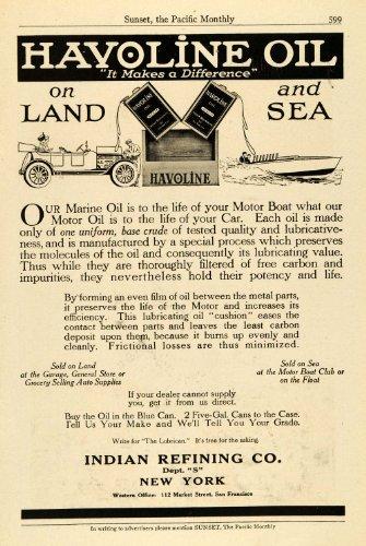 1914-ad-antique-havoline-marine-boat-oil-indian-refining-lubricants-new-york-original-print-ad