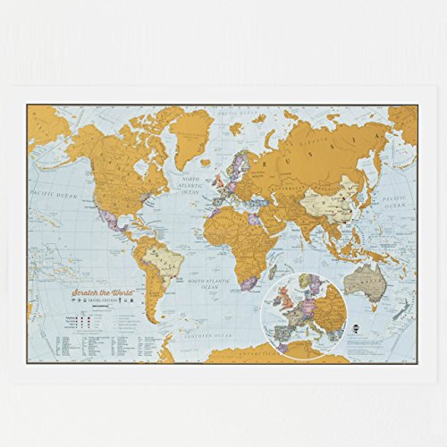 cratch the World Travel Edition Map Print –– 16.53 x 11.69 in ()