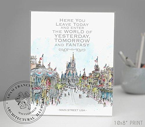 Main Street USA, Disney World Quote| Disney Art | Art prints