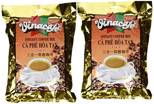 Vinacafe 3 in 1 Instant Coffee Mix 2-Pack (40 sachets total)