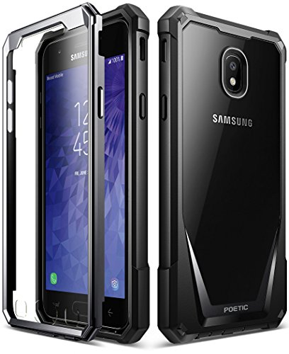 Galaxy J3 2018 Rugged Case, Poetic Guardian Heavy Duty Case with [Built-in-Screen Protector] for Samsung Galaxy J3 2018/J3 Star/J3 Orbit/J3 V 3rd Gen/J3 Achieve/Express Prime 3/Amp Prime 3 - Black