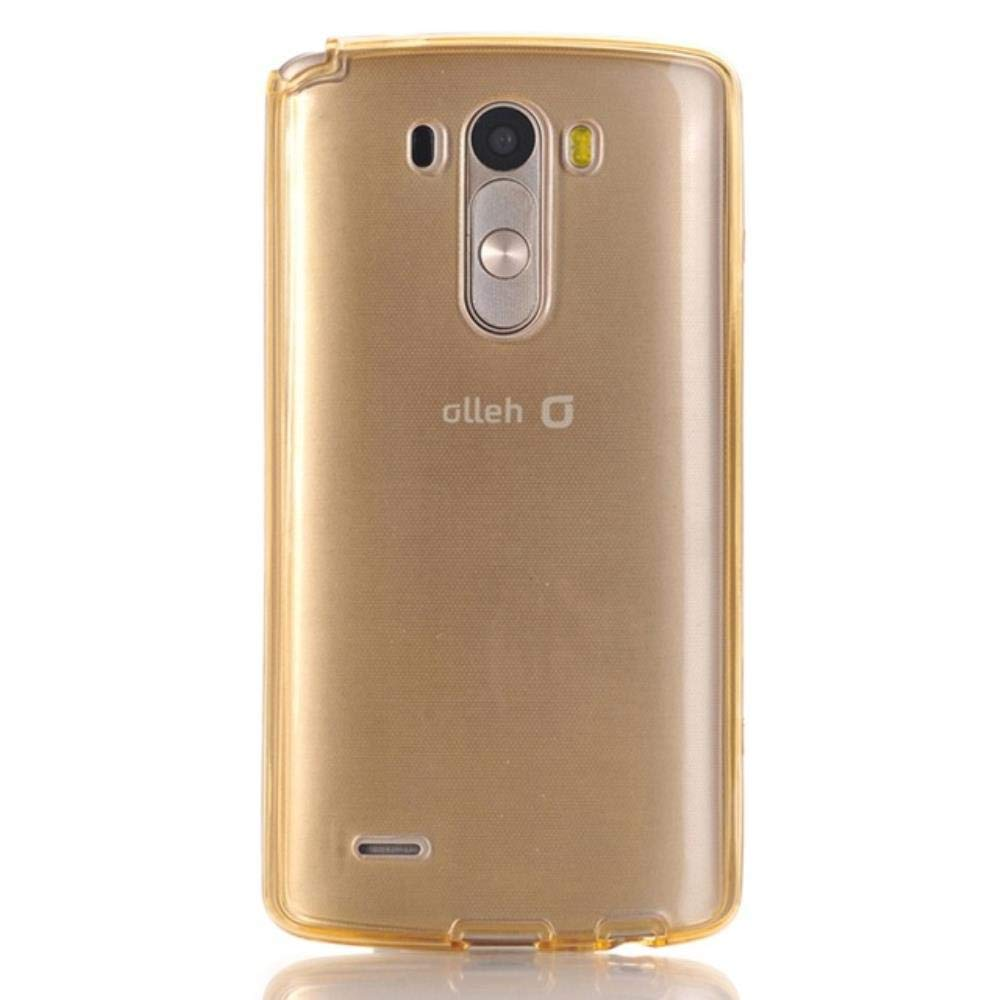 Cell Phone Case for LG G3 G4 G5 G6 Clear Silicon TPU 360 Degree Protect Full Cover G 3 4 5 6 Dual Soft Shockproof Casing,Gold,for LG G5