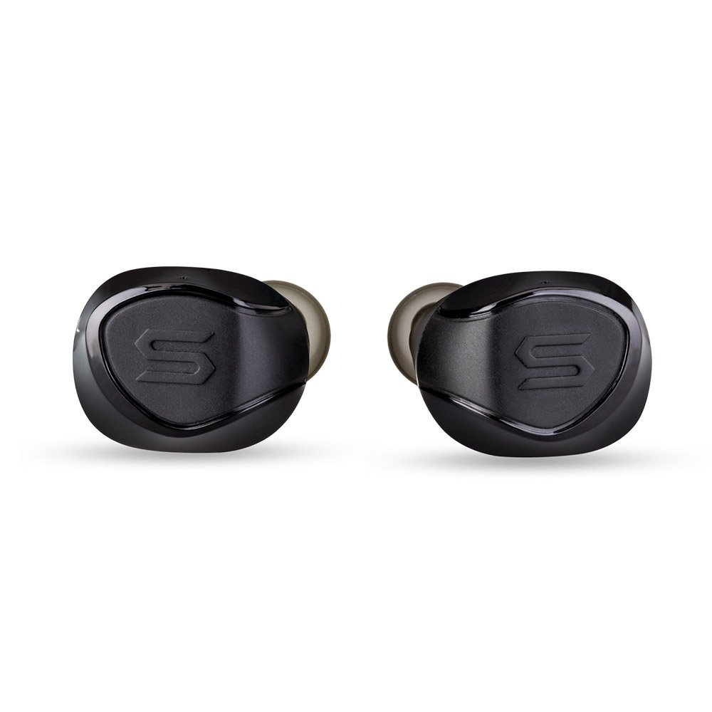 SOUL Electronics X-SHOCK Absolute True Wireless Earphones. Bluetooth Waterproof Earbuds. In Ear Headset with Mic and Charging Box. For iPhone iPad Android Smartphones Tablets, Laptop. Black by Soul Electronics