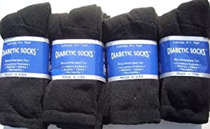 Creswell Diabetic Loose Fit Socks - Pack of 12 Pairs