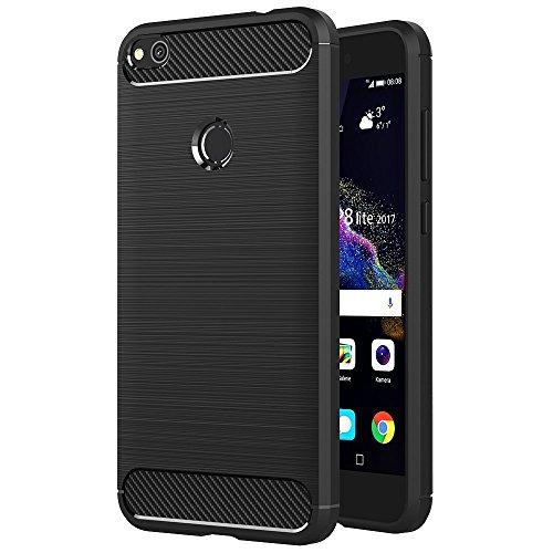 Funda para Huawei P9 Lite 2017 / P8 Lite 2017 / Honor 8 Lite (5,2 Pulgadas) TPU Silicona Carcasa Fundas Protectora con Shock...