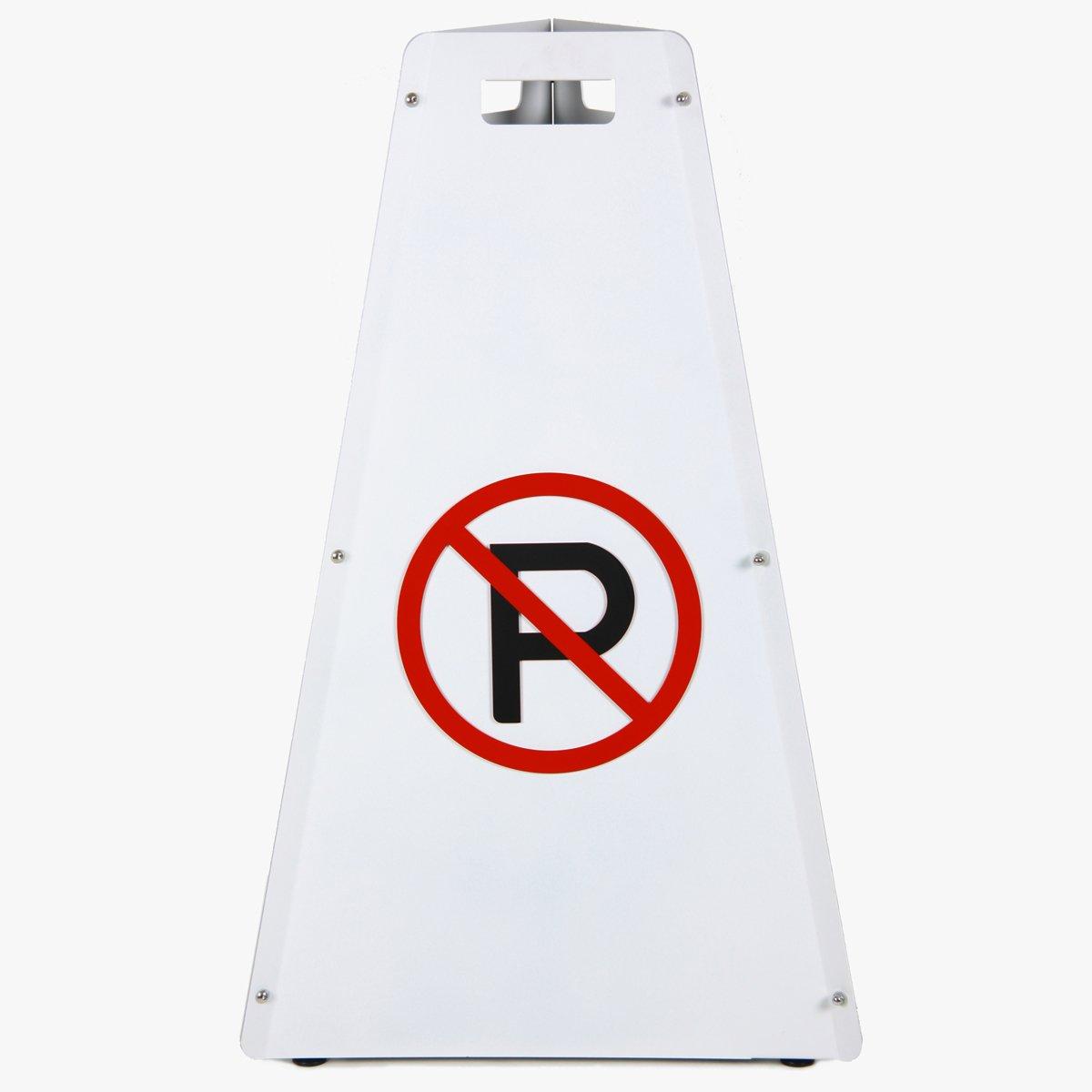 Luxycone(ラグジーコーン) 駐車禁止看板 高品質 贅沢な空間にふさわしい おしゃれ スタンド看板 No1 ホワイト マンション 商業施設 カフェ 店舗 会社 オフィス レストランに人気 B00GNRUSWO ラグジーコーンNo1/ホワイト ラグジーコーンNo1/ホワイト