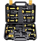 Magnetic Screwdriver Set 10 PCS, CREMAX Professional Cushion Grip 5 Phillips and 5 Flat Head Tips Screwdriver Non-Slip for Repair Home Improvement Craft