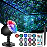 Projector Lights for Christmas Decoraction, acetek Ocean Wave Night Light with 3D Water Ripple, Projector Lamp Undersea for Kids Living Room Bedroom Party Disco with Remote Control Halloween