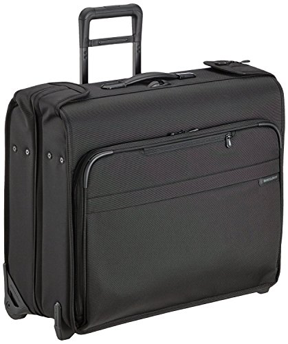 Briggs & Riley Luggage Baseline Deluxe Wheeled Garment Bag (20x24x11.5, New Black) by