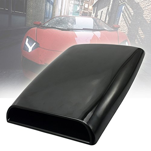 NEVERLAND Universal Auto decorative Air Flow Intake Scoop Turbo Bonnet Vent Cover hood BK