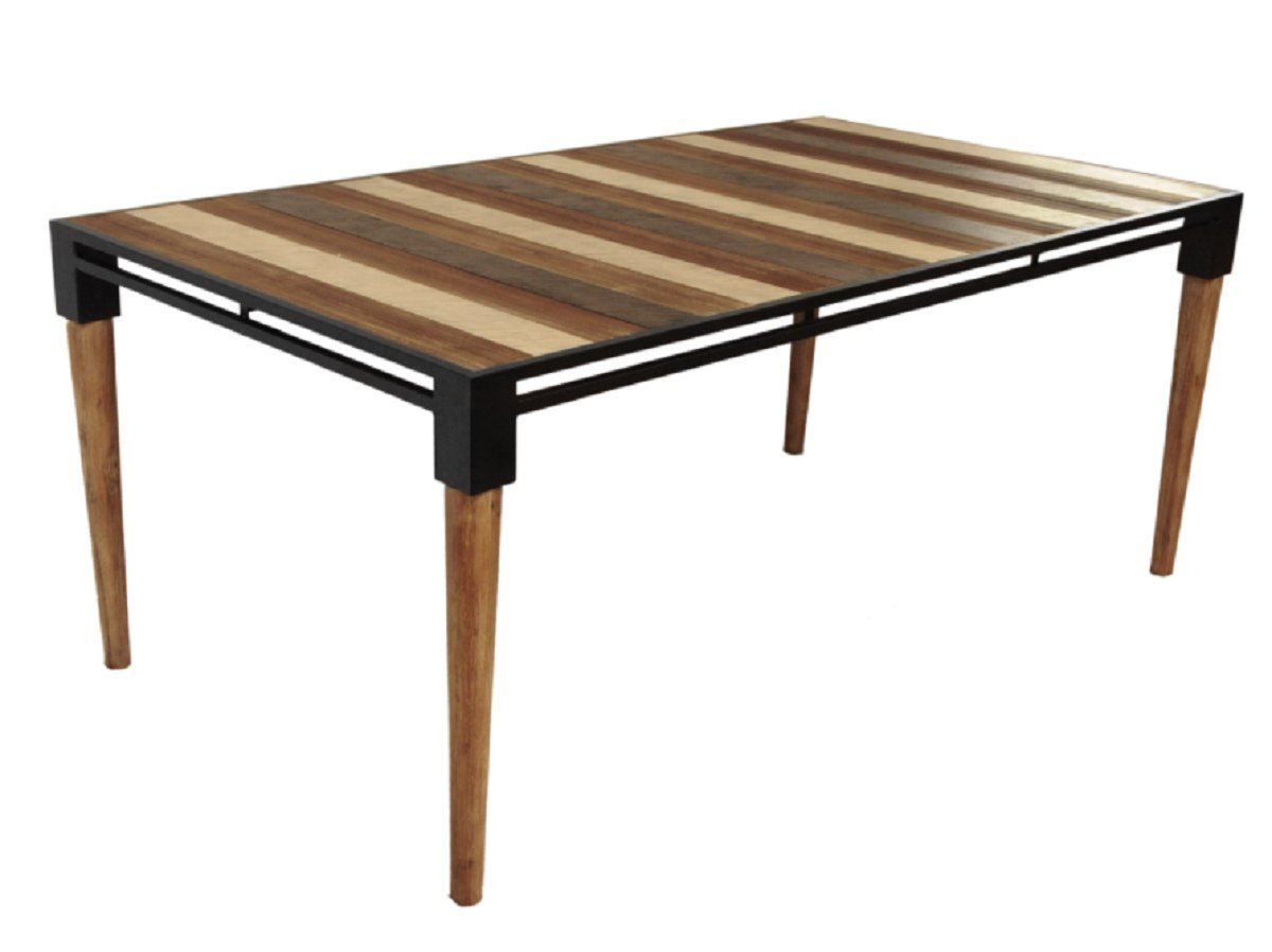 Amazon com cdi furniture td1282m the medley collection modern rustic acacia wood rectangular dining table wood multicolored tables