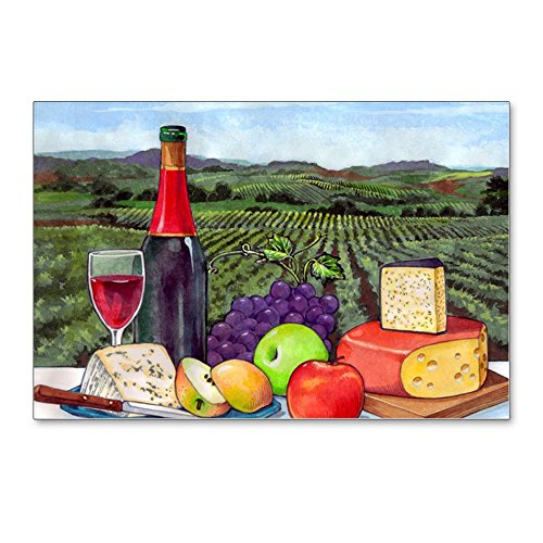 (CafePress - Wine Cheese Landscape - Postcards (Package of 8), 6