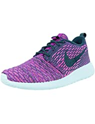 Womens Nike Roshe One Flyknit Casual Shoes Purple 704927-302