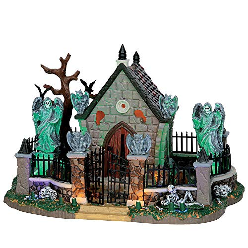 Lemax Spooky Town Collection Graveyard Scene With 4.5V Adaptor Halloween Village Building