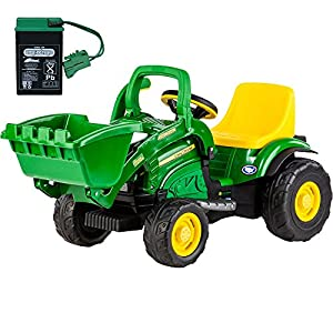 Peg-Perego-John-Deere-Mini-Power-Loader-with-additional-Battery-and-Charger