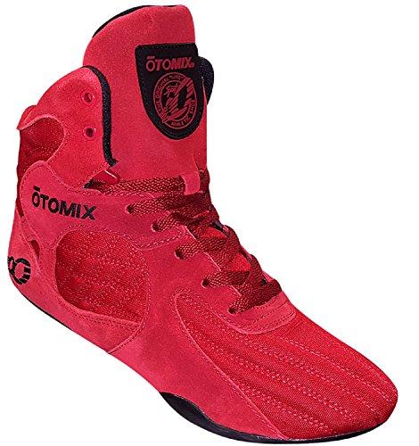 Otomix Stingray Fuga Bodybuilding Sollevamento Pesi Mma Scarpa Da Boxe Rosso