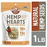 Manitoba Harvest Hemp Hearts Raw Shelled Hemp Seeds, 1lb; with 10g Protein