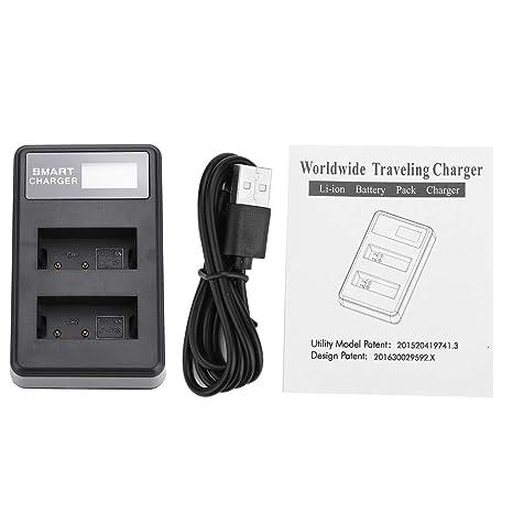 Elerose Cargador de batería USB Dual, Cargador de batería de ...