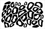 Wall Decor Plus More WDPM121 Leopard Animal Print Wall Vinyl Circle Stickers Rings Decals, Black
