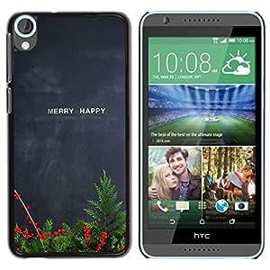 """Pulsar Snap-on Series Teléfono Carcasa Funda Case Caso para HTC Desire 820 , Feliz feliz Navidad pizarra del profesor"""""""