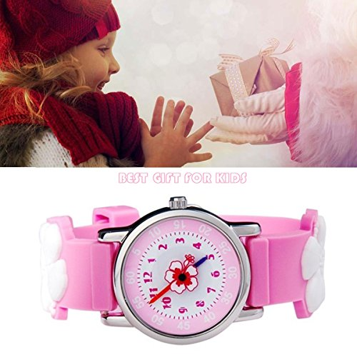 Kids Watch my first Easy Reader Wrist Watches Boys Girls Toddler Waterproof Children Time Teacher 3D Cute Cartoon Silicone Quartz Learning Gift for Little Child by Meetyoo (Image #6)