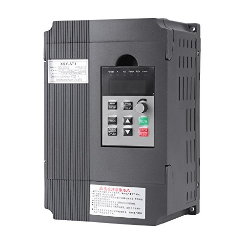 2.2KW VFD Drive Inverter Professional Variable Frequency Drive 2.2KW 3HP 220V 12A for Spindle Motor Speed Control by Walfront