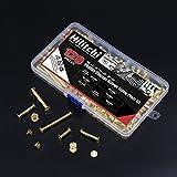 Hilitchi 60-Sets M5 x 5/10 / 15/25 / 35/45 Golden
