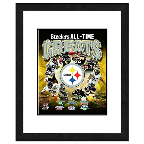NFL Pittsburgh Steelers Men's All Time Greats Framed Photo, One Size, Multicolor