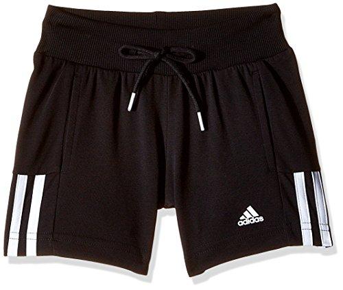 adidas Shorts Essentials Mid 3-Streifen, schwarz/weiß, 140, S20883