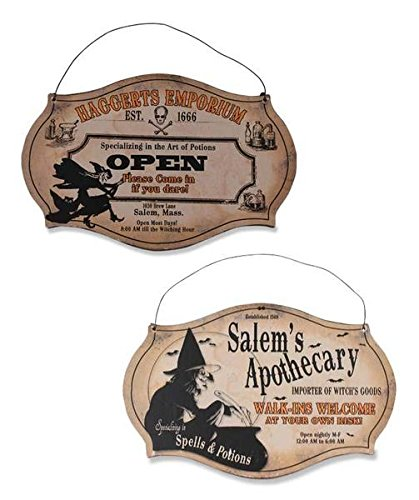 Sir Holiday Witching Hour Store Sign  Set Of 2