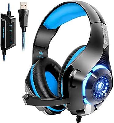 Beexcelente Auriculares USB, Sonido Envolvente 7.1 para Ordenador ...
