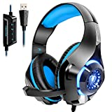 Beexcellent USB Headset, 7.1 Surround Sound Computer Gaming Headset,...