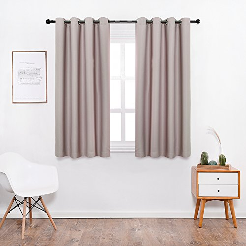 Shade Insulation Curtain For Bedroom Living Room Balcony Curtain,Griege,52x63-inch,1 Panel (Curten Window)