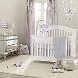 Lambs & Ivy Signature French Lavender 4 Piece Crib Bedding Set
