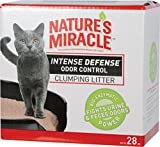 Nature's Miracle NM-5433 Intense Defense Clumping Clay Litter, 28-Pound