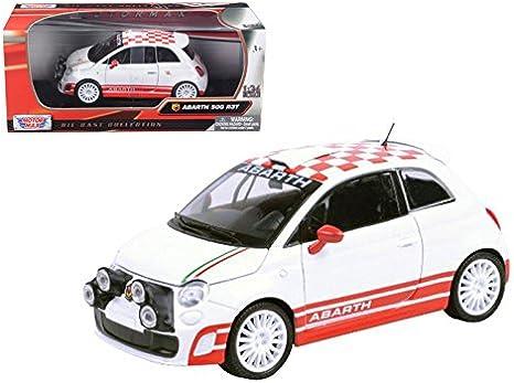 Amazon Com Maisto Fiat Abarth 500 R3t White 1 24 Car Model By Motormax Home Kitchen