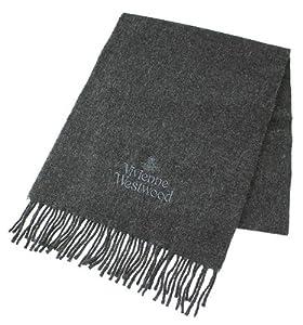 Vivienne Westwood オーブ&ロゴ刺繍ウールマフラー VWW-MUF-01 [並行輸入品]