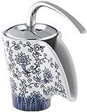 KOHLER K-11010-VB-0 Vas Ceramic Faucet with Imperial Blue Design, White