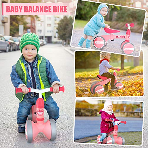 Peradix Bicicletta Equilibrio Bambino,Bicicletta Senza Pedali Bicicletta Giocattoli Sella Regolabile Bicicletta per Ragazzi e Ragazze Regalo Interno All\'aperto Triciclo Senza Pedali per 10-36 Mesi