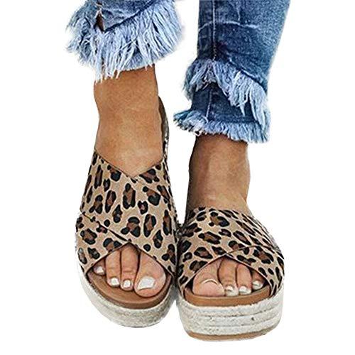 Buy leopard print platform sandals