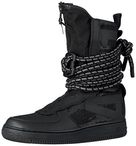 High Sneaker Boot - Nike SF Air Force 1 High Men's Shoes Black/Grey aa1128-002 (12 D(M) US)