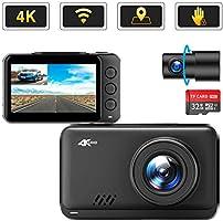 2020最新版 Changer ドライブレコーダー 4K Ultra HD 前後カメラ GPS wifi搭載 ジェスチャーコントロール SONY製CMOSセンサー搭載 WDR搭載 暗視機能 ノイズ対策済 駐車監視 LED信号対応 Gセンサー...