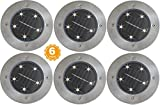 American Technology Solar Pathway and Garden Lights with 5 Bright, White LEDs (6 Pack)