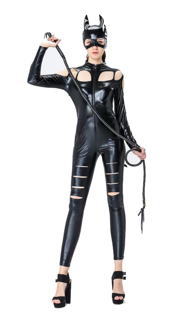 752f39d0ca YX Ladies Sexy Black Catwomen Jumpsuit Costume PVC Latex Bodysuit Sexy  Leather Catsuit: Amazon.co.uk: Sports & Outdoors