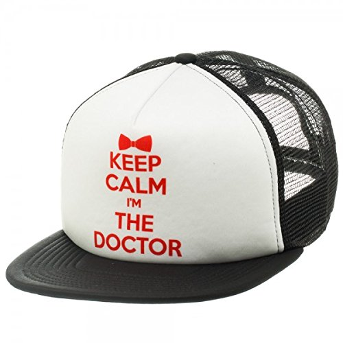 Doctor Who Keep Calm I'm The Doctor Black / White Trucker Cap