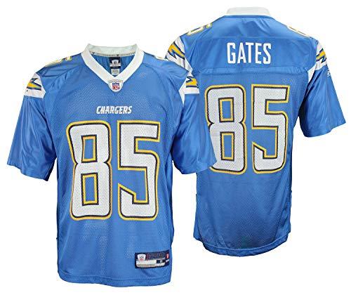 San Diego Chargers Antonio Gates #85 NFL Mens Alternate Replica Jersey, Light Blue (Small)