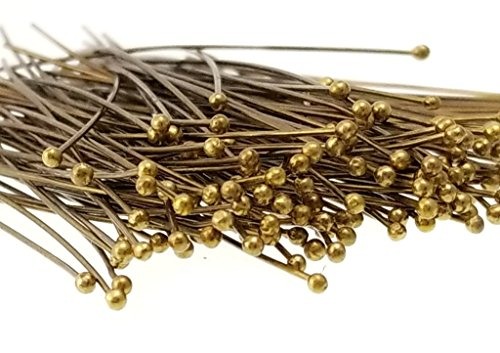 (150pc Antique Bronze Solid Brass Head Ball Pins for Jewelry Making, Earrings - Nickel Free- 70mm (3