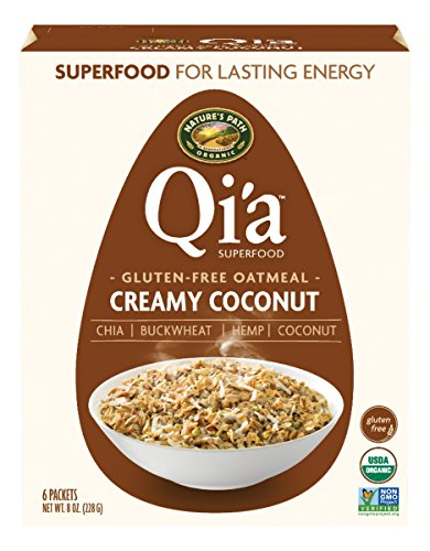 (Nature's Path Organic Qi'a Superfood Hot Oatmeal Gluten Free with Chia, Buckwheat, Hemp + Coconut, Creamy Coconut, 8 Ounce Box (6 Count))