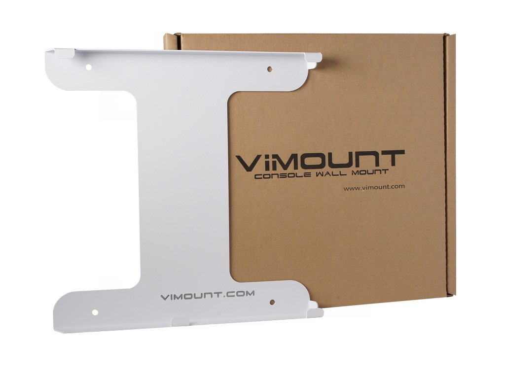 ViMount Playstation 4 PS4 Pro Wall Mount Holder Bracket White Worldwide Shipping by ViMount