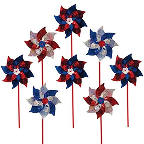 In The Breeze Patriot Mylar Pinwheel Spinners by In the Breeze